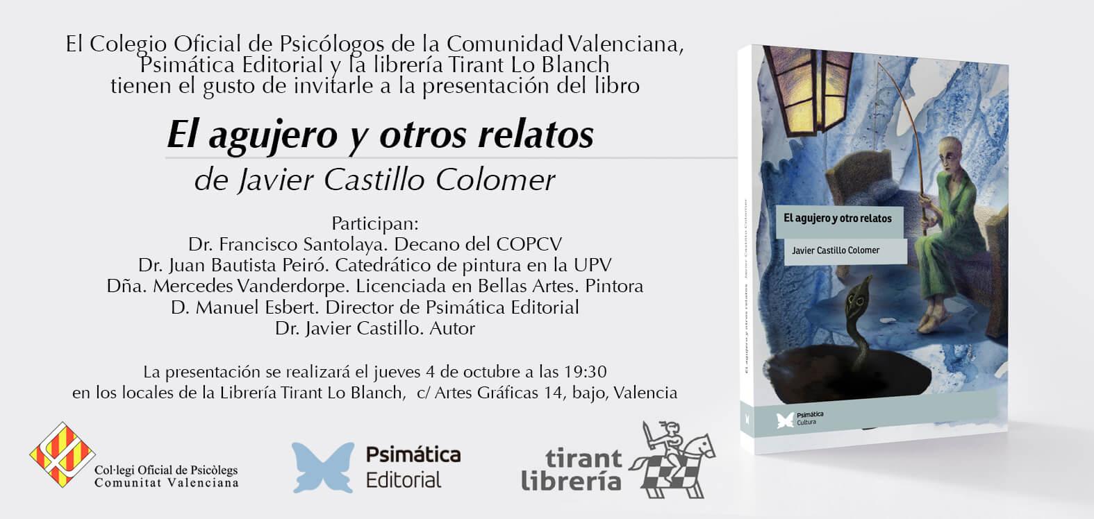 Presentación Libro «El agujero y otros relatos» Valencia
